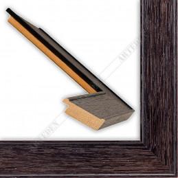 INK5640.175 39x14 - drewniana ciemna brąz rama do obrazów i luster