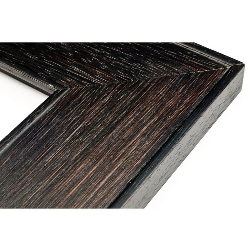 INK5670.175 69x20 - drewniana ciemna brąz rama do obrazów i luster