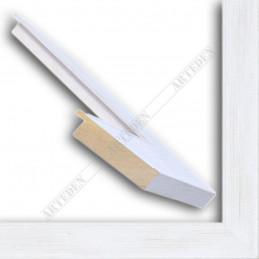 INK5670.185 70x20 - drewniana biała przecierana rama do obrazów i luster sample