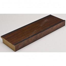INK5670.236 69x20 - drewniana ciemna brąz rama do obrazów i luster