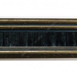 INK6201.670 45x25 - drewniana czarna ze srebrnymi brzegami rama do obrazów i luster sample2
