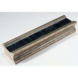INK6201.670 45x25 - drewniana czarna ze srebrnymi brzegami rama do obrazów i luster