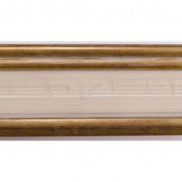 INK6201.786 45x25 - drewniana avorio ze złotymi brzegami rama do obrazów i luster sample2