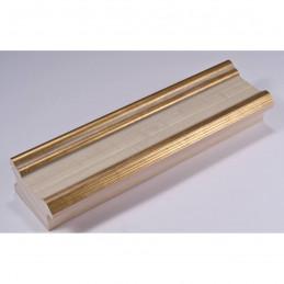 INK6201.786 45x25 - drewniana avorio ze złotymi brzegami rama do obrazów i luster sample
