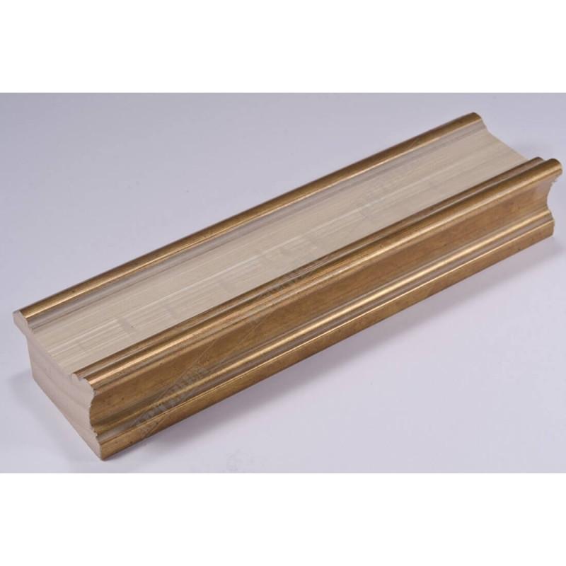 INK6201.786 45x25 - drewniana avorio ze złotymi brzegami rama do obrazów i luster