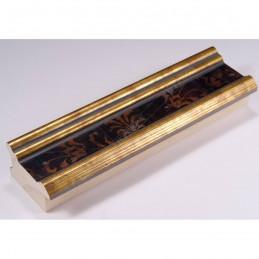 INK6201.997 45x25 - drewniana czarna-złote brzegi ze wzorkiem rama do obrazów i luster sample1