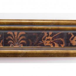 INK6201.997 45x25 - drewniana czarna-złote brzegi ze wzorkiem rama do obrazów i luster sample2