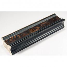 INK6201.999 45x25 - drewniana czarna-złoty felc ze wzorkiem rama do obrazów i luster sample
