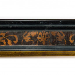 INK6201.999 45x25 - drewniana czarna-złoty felc ze wzorkiem rama do obrazów i luster sample2