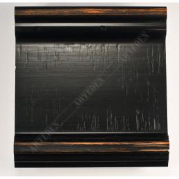 INK6202.571 70x30 - drewniana czarna-przecierane brzegi rama do obrazów i luster sample1