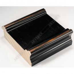 INK6202.571 70x30 - drewniana czarna-przecierane brzegi rama do obrazów i luster