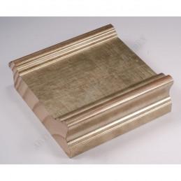 INK6202.640 70x30 - drewniana srebrna antyczna rama do obrazów i luster