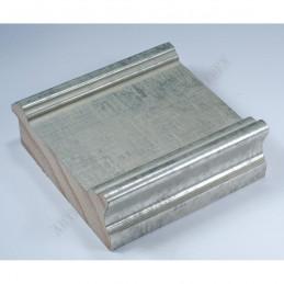 INK6202.650 70x30 - drewniana srebrna matowa rama do obrazów i luster
