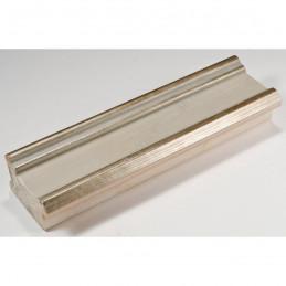 INK6202.686 70x30 - drewniana avorio ze srebrnymi brzegami rama do obrazów i luster sample