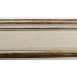 INK6202.686 70x30 - drewniana avorio ze srebrnymi brzegami rama do obrazów i luster sample1