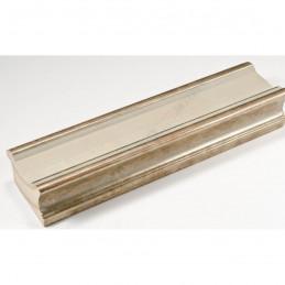 INK6202.686 70x30 - drewniana avorio ze srebrnymi brzegami rama do obrazów i luster