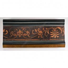 INK6202.999 70x30 - drewniana czarna-złoty felc-wzorek rama do obrazów i luster sample1
