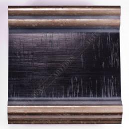 INK6203.670 105x37 - czarna-srebrne brzegi rama do dużych obrazów i luster sample1