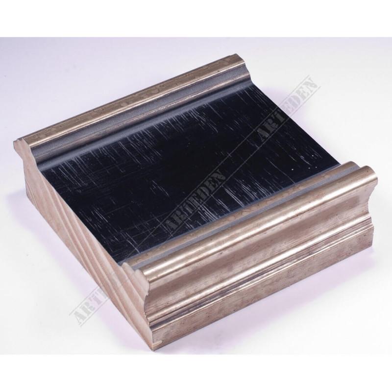 INK6203.670 105x37 - czarna-srebrne brzegi rama do dużych obrazów i luster