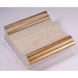 INK6203.786 105x37 - avorio-złote brzegi rama do dużych obrazów i luster sample