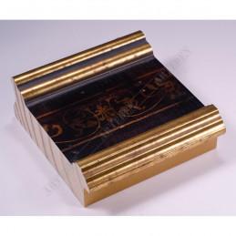 INK6203.997 105x37 - czarna-złote brzegi-wzorek rama do dużych obrazów i luster sample