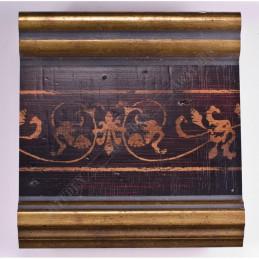 INK6203.997 105x37 - czarna-złote brzegi-wzorek rama do dużych obrazów i luster sample1