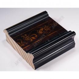 INK6203.999 105x37 - czarna-złoty felc-wzorek rama do dużych obrazów i luster sample