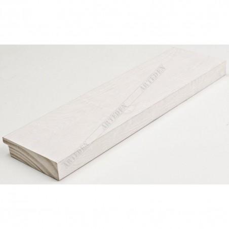 INK7017.540 70x17 - drewniana biała rama do obrazów i luster