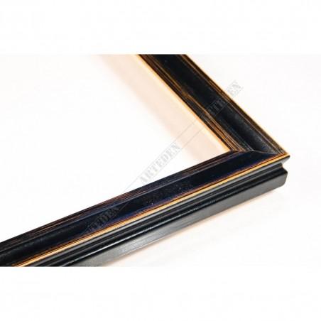 INK7500.471 17x17 - mała czarna przecierka ramka do obrazków
