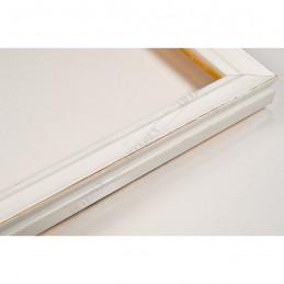 INK7500.481 17x17 - mała biała przecierka ramka do zdjęć i obrazków