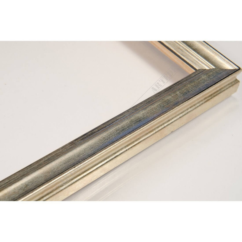 INK7500.673 17x17 - mała srebrna przecierka ramka do zdjęć i obrazków