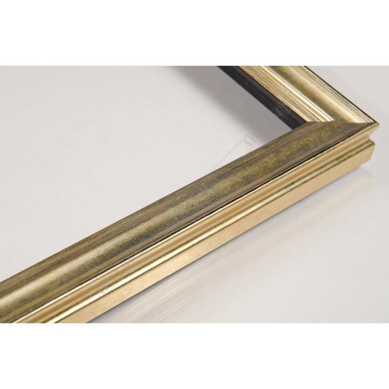 INK7500.753 17x17 - mała złota przecierka ramka do zdjęć i obrazków