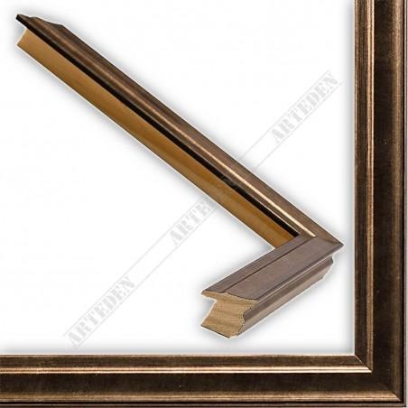 INK7500.773 17x17 - mała miedź przecierka ramka do zdjęć i obrazków sample