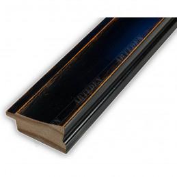 INK7501.471 45x21 - drewniana ciemny orzech rama do obrazów i luster