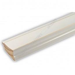 INK7501.481 45x21 - drewniana biała rama do obrazów i luster