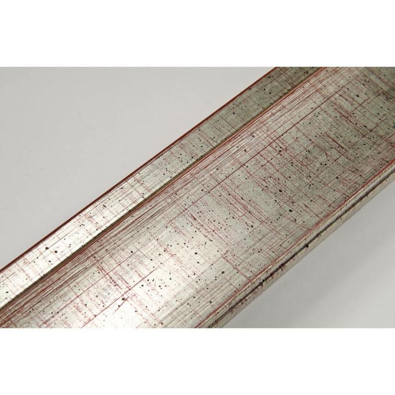 INK7501.647 45x21 - drewniana srebrna rama do obrazów i luster