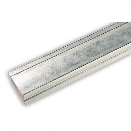 INK7501.653 45x21 - drewniana srebrna rama do obrazów i luster