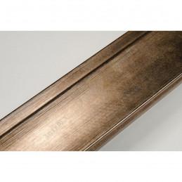 INK7501.773 45x21 - drewniana brąz metaliczna rama do obrazów i luster