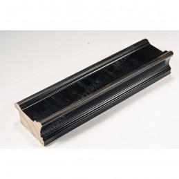 INK6201.571 45x25 - drewniana czarna z przecieranymi brzegami rama do obrazów i luster