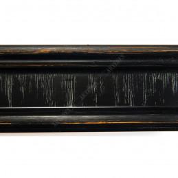 INK6201.571 45x25 - drewniana czarna z przecieranymi brzegami rama do obrazów i luster sample2
