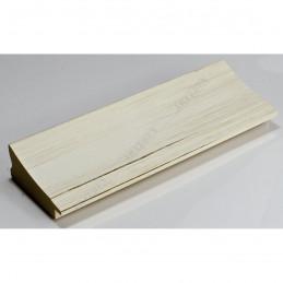 INK7502.480 70x30 - drewniana biała mat przecierka rama do obrazów i luster sample