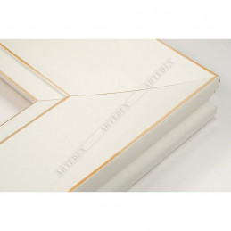 INK7502.481 70x30 - drewniana biała mat przecierka rama do obrazów i luster