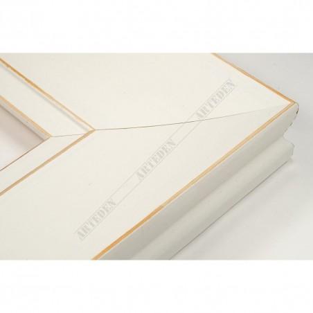 INK7502.481 70x30 - biała matowa rama z przecieranymi brzegami