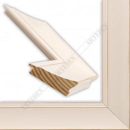 INK7502.481 70x30 - drewniana biała mat przecierka rama do obrazów i luster sample