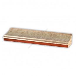 INK7502.647 70x30 - drewniana srebrna rama do obrazów i luster sample