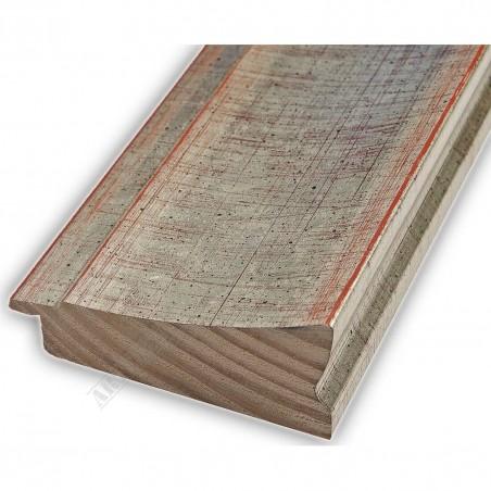 INK7502.647 70x30 - drewniana srebrna rama do obrazów i luster
