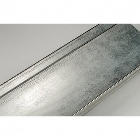 INK7502.653 70x30 - drewniana srebrna rama do obrazów i luster