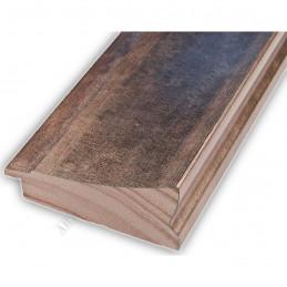 INK7502.773 70x30 - drewniana brąz metaliczna rama do obrazów i luster