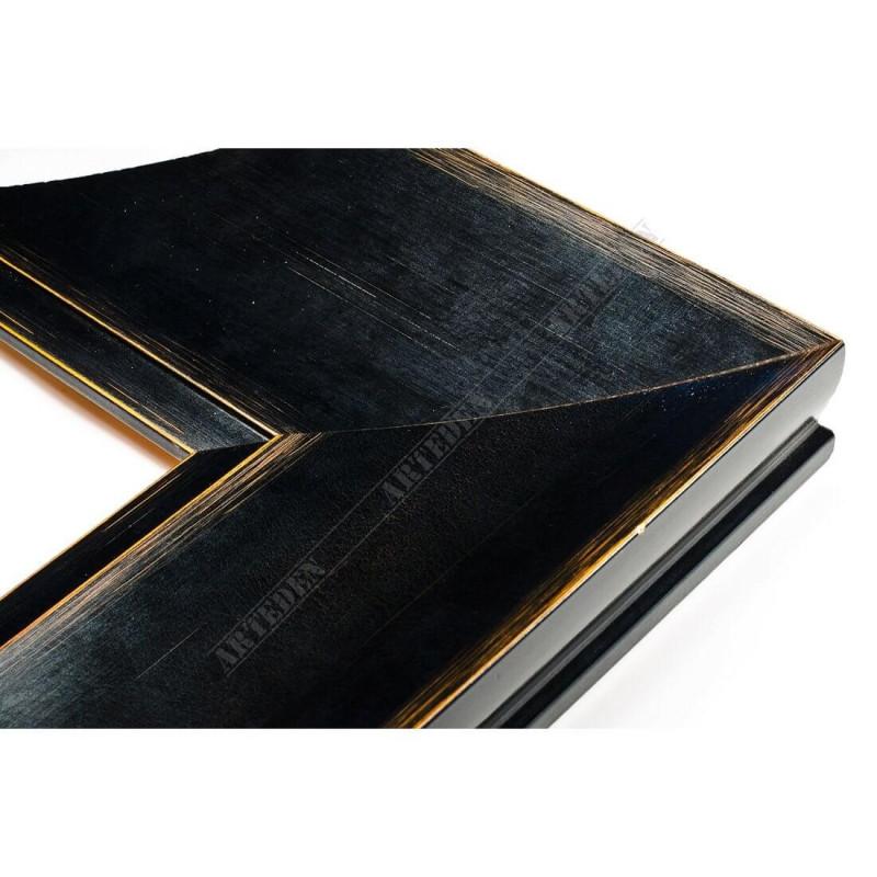 INK7503.471 110x38 - czarna mat przecierka rama do dużych obrazów i luster