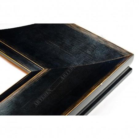 INK7503.471 110x38 - czarna matowa rama z przcierką do obrazów